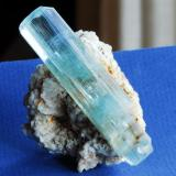 Berilo Aguamarina Gilgit, Paquistan Cristal 8 cm (Autor: E. Llorens)