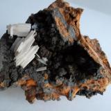 Cerusita en Goethita Flux Mine, Patagonia mts, Arizona, USA 5 x 5 cm. (Autor: javier ruiz martin)