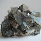 Fluorita con Galena Heights Mine, Weardale, Inglaterra, UK 5 x 5 cm. (Autor: javier ruiz martin)