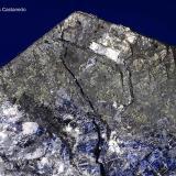 Marcasita pseudo pirrotina con galena.  Cantera Sultana. Llano del Beal. Sierra Minera de Cartagena-La Unión. Cartagena. Murcia. España. 9.5x8 cm. Cristal 2.5 cm. (Autor: Juan Luis Castanedo)