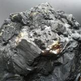 Esfalerita Minas de Mazarrasa, Ándara, Cillórigo, Picos de Europa, Cantabria, España 14cm x 13 cm x 9 cm detalle pieza anterior (Autor: PabloR)