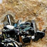 Tetrahedrita Georg Mine,Willroth, Altenkirchen, Wied Iron Spar District, Westerwald, Rhineland-Palatinate, Alemania 6,4cm X 6,2 cm, cristal mayor, 0,8 cm X 0,8 cm (Autor: Francisco Javier Ortiz)