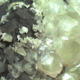 Calcita Mina Moscona, Solís, Asturias, España  Cristales de 3 cm. (Autor: Laureano)