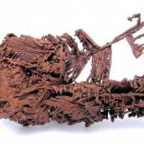 Copper San Agustín Mine, Corocoro, Pacajes Province, La Paz Department, Bolivia 87 mm x 29 mm x 11 mm  Back view (Author: Carles Millan)