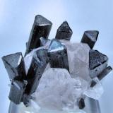 Tourmaline, quartz, albite Stak Nala, Haramosh Mts., Skardu District, Baltistan, Gilgit-Baltistan, Pakistan 42 mm x 37 mm x 32 mm (Author: Carles Millan)