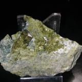 Epidote Maryland Materials quarry, North East, Cecil Co., Maryland, USA 8 cm across (Author: John S. White)