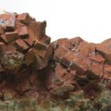 Fluorita cúbica recubierta de oxidos Mina Berta - El Papiol/Sant Cugat - Baix Llobregat/Vallès Occidental - Barcelona - Catalunya - España 95 x70 x 35 mm Detalle (Autor: Joan Martinez Bruguera)