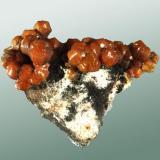 Mimetita (campylita) Caldbeck Fells, Cumberland, Inglaterra, Reino Unido. Dry Gill (m). 3,8x3,7x1,9 cm. Agregado de cristales abarrilados, de color naranja, en matriz. Ejemplar obtenido en 2002 MINDAT ID: 314131 procedente de la colección de Martín Oliete Fontela (Madrid) (número 3) (Autor: Carles Curto)
