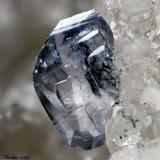 Titanite Beura Quarries, Beura-Cardezza, Ossola Valley, Verbano-Cusio-Ossola Province, Piedmont, Italy 1.14 mm blue Titanite crystal (Author: Matteo_Chinellato)