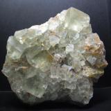 Fluorita Oukhit, Jorf, Erfoud, Er Rachidia, Marruecos 10x10x5 cm. Cristal mayor 2 cm arista. (Autor: Carles Rubio)
