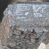 Birnessite Poudrette quarry (Demix quarry; Uni-Mix quarry; Desourdy quarry; Carrière Mont Saint-Hilaire), Mont Saint-Hilaire, Rouville RCM, Montérégie, Québec, Canada FOV=4mm (Author: Doug)