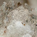 Behoite Poudrette quarry (Demix quarry; Uni-Mix quarry; Desourdy quarry; Carrière Mont Saint-Hilaire), Mont Saint-Hilaire, Rouville RCM, Montérégie, Québec, Canada FOV=2mm (Author: Doug)
