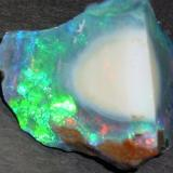 Precious Opal Stonetree Opal Mine Group, Virgin Valley, Humboldt County, NV, USA 4.0 x 3.5 cm (Author: Chris Wentzell)