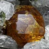 Titanite Bassano Romano, Viterbo Province, Latium, Italy 1.23 mm orange-dark Titanite crystal (Author: Matteo_Chinellato)