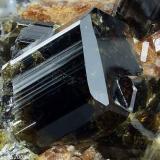 Vesuvianite Monte Somma, Somma-Vesuvius Complex, Naples Province, Campania, Italy 9 mm Vesuvianite crystal from ex collection M.Wachtler 1987. Collection & Photo M.Chinellato (Author: Matteo_Chinellato)