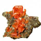 Wulfenite Red Cloud Mine, Silver District, Trigo Mts, La Paz Co., Arizona, USA 63 mm x 48 mm (Author: Carles Millan)