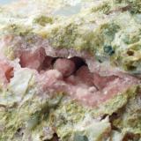 Calcita cobaltifera Peramea - Pallars Jussà - Lleida - Catalunya - España 65 x 65 x 40 mm Detalle (Autor: Joan Martinez Bruguera)