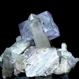 Fluorita, cuarzo, arsenopirita Mina Yaogangxian, Yizhang, Chenzhou, Hunan, China 54 mm x 47 mm (Autor: Carles Millan)