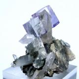 Fluorite, quartz, arsenopyrite Yaogangxian Mine, Yizhang, Chenzhou, Hunan, China 54 mm x 47 mm (Author: Carles Millan)