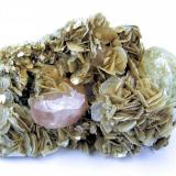 Apatite, beryl, muscovite Huya W-Sn-Be deposit (Pingwu beryl mine), Huya village, Mt Xuebaoding, Pingwu Co., Mianyang Prefecture, Sichuan Province, China 67 x 45 x 28 mm³ (Author: Carles Millan)
