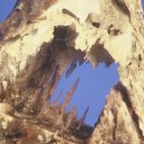 Fluorite cast @ anhydrite (orig. calcite-filled) Bluffton, Ohio, USA 2.5 cm (Author: John Medici)