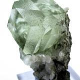 Fluorite, calcite Xianghuapu Mine, Xianghualing, Lingwu, Lanshan, Chenzhou, Hunan, China 71 x 52 x 40 mm³ (Author: Carles Millan)