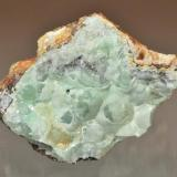 Smithsonite Blanchard Claims, Bingham, Socorro County, New Mexico, USA 7.0 x 6.4 cm Quality smithsonite is found rarely from Blanchard, but it does occasionally occur. (Author: Philip Simmons)
