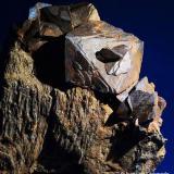 Siderita.  Sierra Almagrera. Cuevas de Almanzora. Almería. Andalucía. España.  10x9 cm. Cristal mayor 3.7 cm. (Autor: Juan Luis Castanedo)