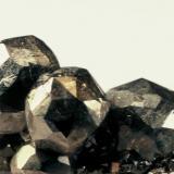 Pyrite Duff quarry, Huntsville, Ohio, USA around 2 cm field of view (Author: John Medici)