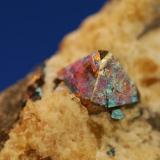 Pyrite in fluorite Duff quarry, Huntsville, Ohio, USA Crystal 6 mm (Author: John Medici)