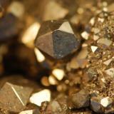 Pyrite Duff Quarry, Huntsville, Ohio, USA 2 cm field of view (Author: John Medici)