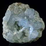 Celestina Puente Tablas, Jaen 9 x 8 x 6 cm. El cristal mas grande mide 2,6 cm. Tiene un curioso agregado en forma de anzuelo. (Autor: Josele)