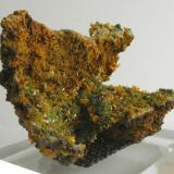 Wulfenite with Mimetite on Limonite Ojuela Mine, Level 6, San Juan Poniente, Municipio de Mapimí, Durango, Mexico. 14 x 8 x 7 cm: 447 gram (Author: Louis Friend)