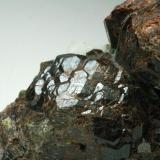 Granate Andradita Corta Manuel y Mercedes - Minas de Cala - Cala - Huelva - Andalucía - España 65 x 35 x 30 mm Detalle (Autor: Joan Martinez Bruguera)