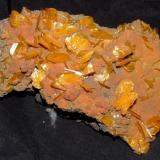 Wulfenite on Mimetite San Francisco Mine, Cerro Prieto, Sonora, Mexico 13 x 6 x 3 cm (Author: Joseph D'Oliveira)