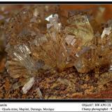 Adamite Ojuela Mine, Mapimí, Mexico fov 9 mm (Author: ploum)