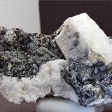 Witherite, Baryte, Sphalerite, Quartz. Haggs Mine, Nentsberry, Alston Moor, Cumbria, England, UK. 50 mm across (Author: nurbo)
