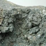 Calcita recubierta de sulfuros de cobre Mina Las Cruces - Gerena - Sevilla - Andalucía - España 120 x 60 x 40 mm Detalle (Autor: Joan Martinez Bruguera)