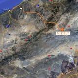 De Rar-el-Anz nos dirigimos a Midelt.  Google maps. (Autor: Josele)