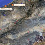 Aterrizamos en Casablanca y nos dirigimos a Rar-el-Anz.  Google maps. (Autor: Josele)