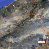 Desde Erg Chebbi condujimos hasta Taouz. Google Maps. (Autor: Josele)