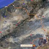 De Taouz nos dirigimos a Oumjrane. Google maps. (Autor: Josele)