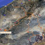 Camino de Marrakech paramos en Sidi Rahal para preparar algunos detalles de la Conferencia. Google Maps. (Autor: Josele)