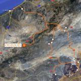 Después de varios días de visitas mineralógicas, nos tomamos unos días para visitas turísticas, ...bueno, casi turísticas. Google Maps. (Autor: Josele)
