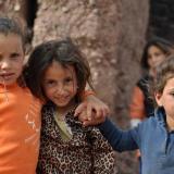 Chiquillas de familias mineras de Agoudal. Fot. K. Dembicz. (Autor: Josele)