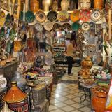 Cacharrería cerámica en Marrakech. Fot. L. Albin. (Autor: Josele)