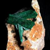 Malaquita pseudomórfica de Azurita Kerrouchen, Khénifra, Marruecos Cristal mayor 6 cm. Hallazgo de 1978 Colección y foto: Peter Seroka (Autor: Peter Seroka)