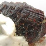 Granate Spessartina (Espesartina). Detalle. Peech. Nuristan. Afganistán. Tamaño cristal:25x30 mm. (Autor: Jose Luis Otero)