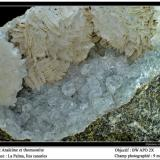 Analcime and thomsonite La Palma, Canary Islands, Spain fov 9 mm (Author: ploum)