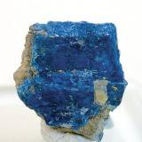 Chalcostibita Rar el Anz, Casablanca, Marruecos Tamaño de la pieza: 1.6 × 1.6 × 0.5 cm. Foto: Minerales de Referencia (Autor: Jordi Fabre)